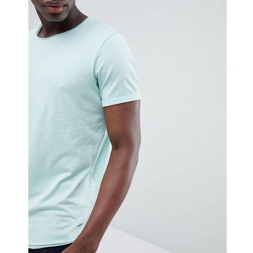 longline t-shirt with raw curved hem in mint green - green, Esprit, S-XXL