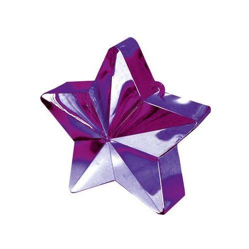Obciążnik ciężarek do balonów napełnionych helem - gwiazda fioletowa - 170 g. marki Amscan