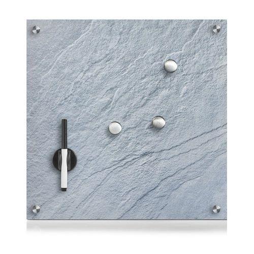 Szklana tablica magnetyczna memo, ciemno szary + 3 magnesy, 40x40 cm, marki Zeller