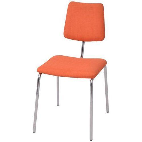 Vidaxl krzesło jadalniane materiałowe, pomarańczowe