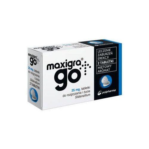 OKAZJA - Polpharma Maxigra go 25mg x 2 tabletki do rozgryzania i żucia