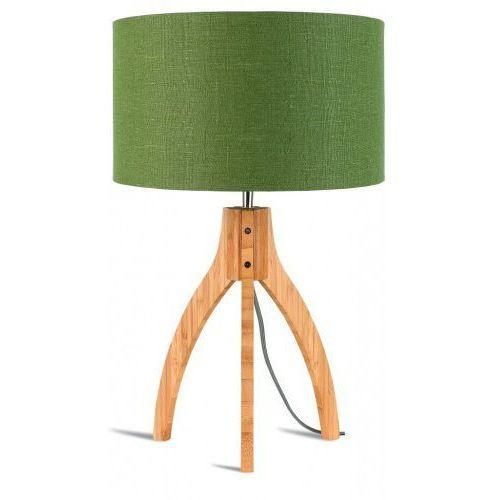 Lampa stołowa Annapurna trójnożna 30cm/abażur 32x20cm,lniany zieleń lasu, ANNAPURNA/T/3220/GF