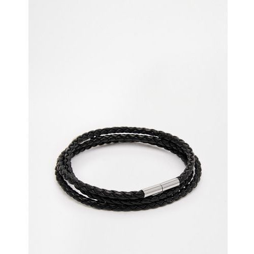 woven wrap bracelet - black marki Seven london
