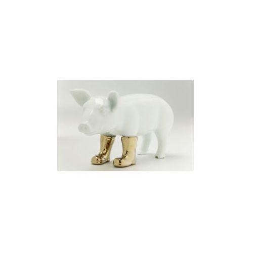KARE Design:: Figurka świnka w złotych butach mała