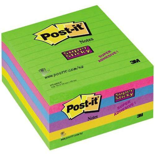 3m Post-it notes super sticky ultra 675-6ssuc 100x100mm, 90k linia, opakowanie 6 sztuk