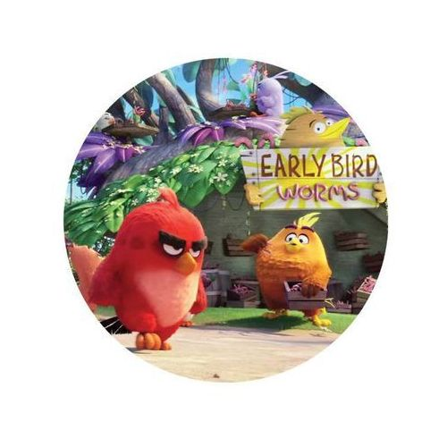 Dekoracyjny opłatek tortowy angry birds - 20 cm - 15 marki Modew