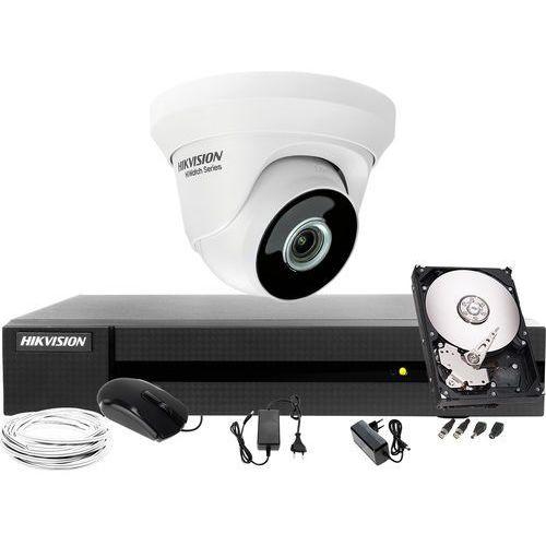 Hikvision hiwatch 1x hwt-t223-m telewizja przemysłowa do domu, mieszkania hwd-6104mh-g2, 1tb, akcesoria