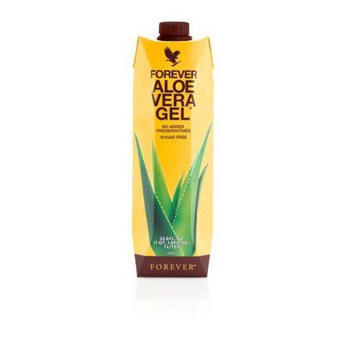 Miąższ aloesowy, 99,7% soku z liści aloesu - forever aloe vera gel, opakowanie 1 litr marki Forever living products