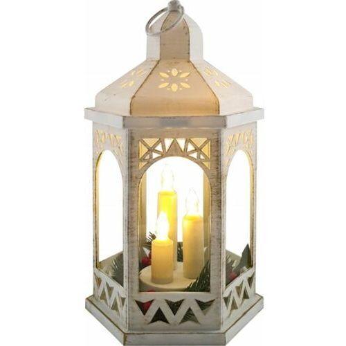 LATARENKA LED Z ŚWIECZKAMI LAMPION OZDOBA BATERIE, Zasilana 2 x bateria AA