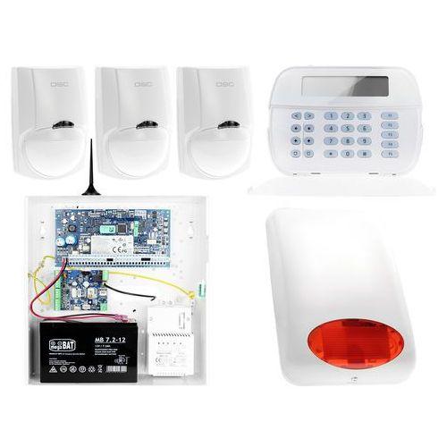 ZA12537 Zestaw alarmowy DSC 3x Czujnik ruchu Manipulator LCD Powiadomienie GSM, ZA12537