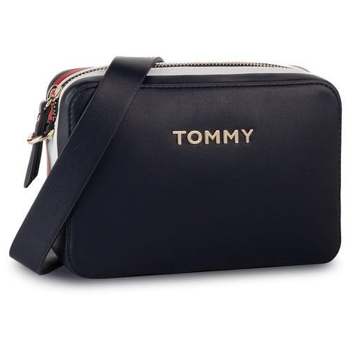 Torebka TOMMY HILFIGER - Th Corporate Crossover AW0AW06812 413, kolor niebieski