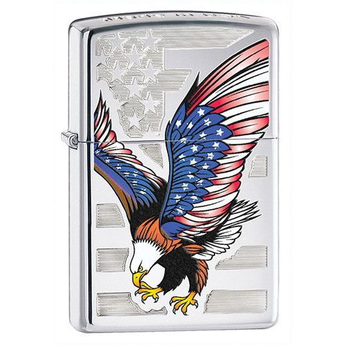 Zapalniczka Zippo American Eagle, High Polish Chrome