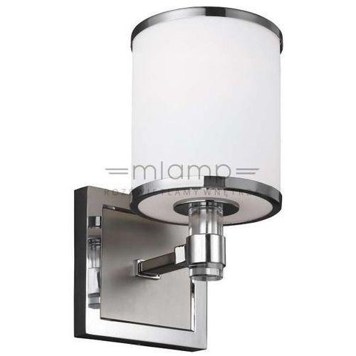 Kinkiet LAMPA ścienna PROSPECT PARK FE/PROSPECTPK1 Elstead FEISS klasyczna OPRAWA abażurowa nikiel satynowany biała