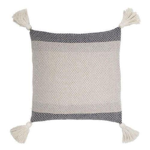 Poduszka z frędzlami kwadratowa Bloomingville niebieska
