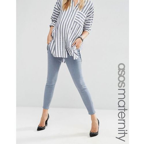 ridley skinny jean in nevaeh wash with under the bump waistband - grey od producenta Asos maternity