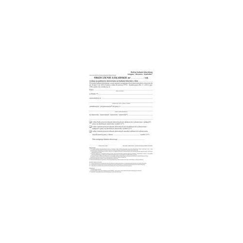Druk Orzeczenie lekarskie art.43 wiel A5 80k, DR243