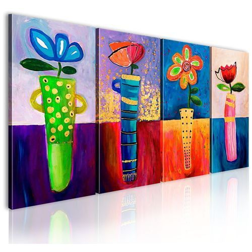 Obraz malowany - tęczowe kwiaty marki Artgeist