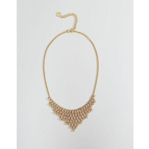 gem drop statement necklace - gold marki Johnny loves rosie