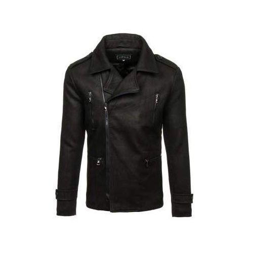 Płaszcz męski zimowy czarny denley 3133 marki J.style