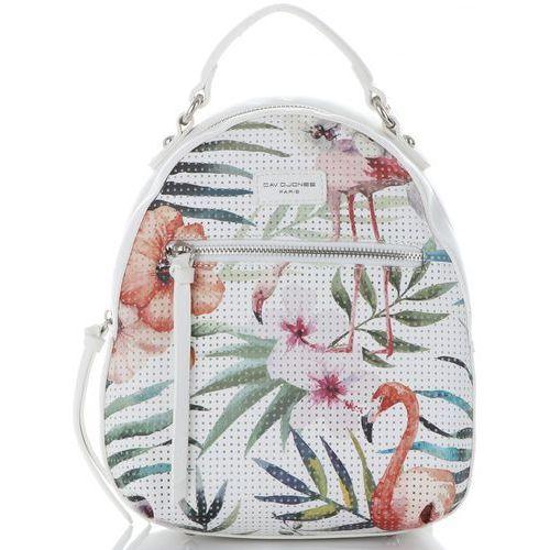 33a4cc8a384b8 Unikatowe Plecaczki Damskie w tropikalne wzory marki David Jones Multikolor  Białe (kolory)