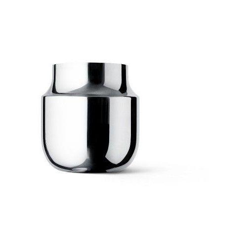 Wazon Tactile szeroki, srebrna stal - Menu, 4730059