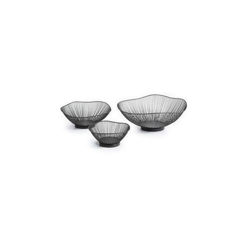 LaForma:: Zestaw 3 metalowych misek ARABEL czarne, AA0219R01