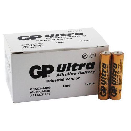 40 x bateria alkaliczna GP Ultra Alkaline Industrial LR03/AAA (karton) (4891199113369)