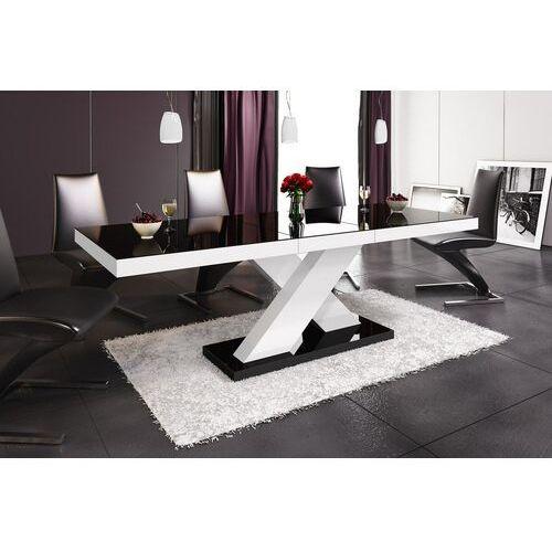 Hubertus Stół rozkładany xenon 160-208 czarno-biały połysk