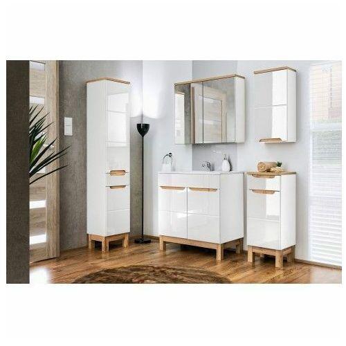 Zestaw mebli łazienkowych marsylia 2q 80 cm - biały połysk marki Producent: elior