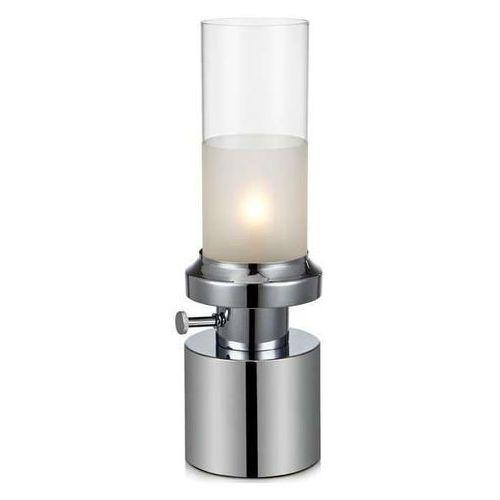 Markslojd Biurkowa lampka stojąca pir 105775 stołowa lampa tuba jak naftowa chrom