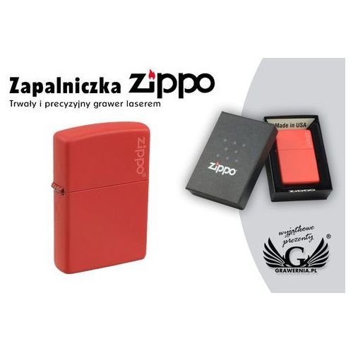 Zippo Zapalniczka red matte logo
