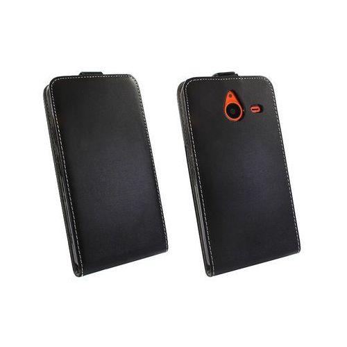 Microsoft Lumia 640 XL - etui na telefon Forcell Slim Flexi - czarny, ETMS183ELFXBLK000
