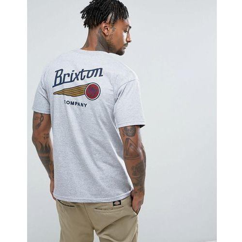 Brixton Maverick T-Shirt With Back Print - Grey