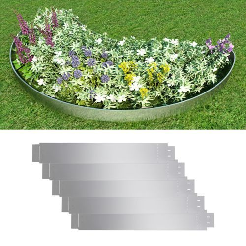 Vidaxl  zestaw 5 elastycznych obrzeży ogrodowych, stalowych, 100 x 15 cm