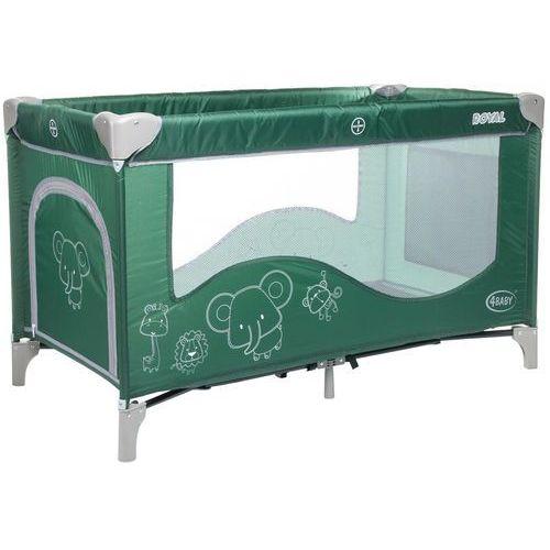 4baby łóżeczko turystyczne royal, green (5901691953093)