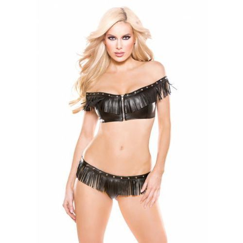 Faux leather top & g- string marki Allure