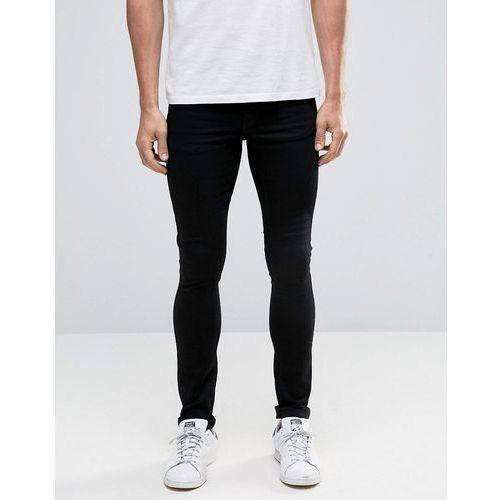ASOS Extreme Super Skinny Jeans In Black - Black, kolor czarny
