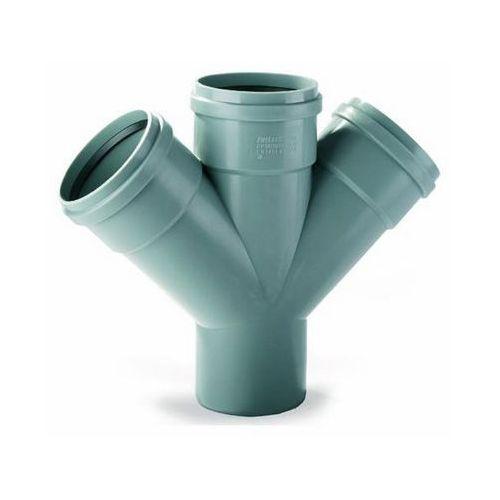 Czwórnik do kanalizacji wewnętrznej Pipelife 45° 110 x 110 mm, 3496101330