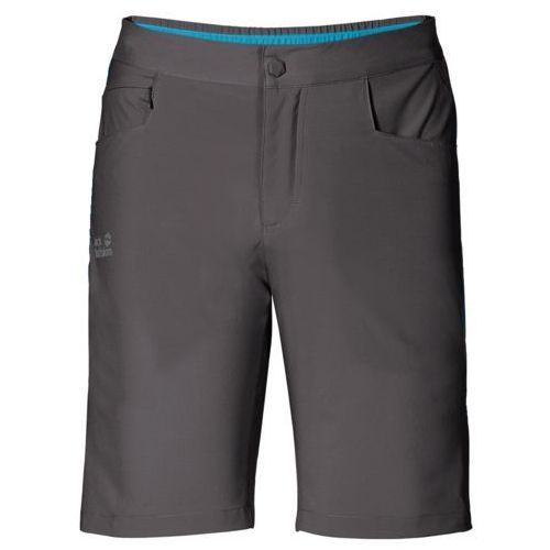 Jack wolfskin Spodenki passion trail shorts men - dark steel