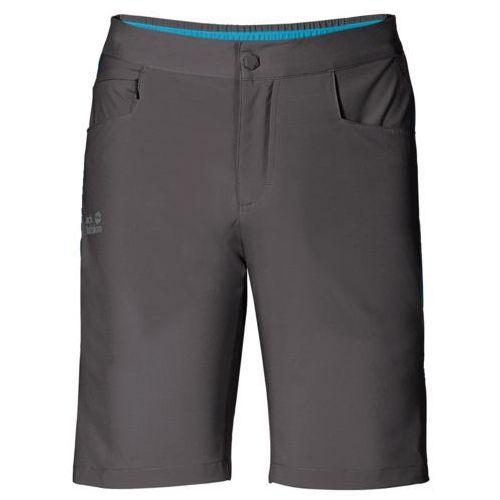 Spodenki passion trail shorts men - dark steel, Jack wolfskin