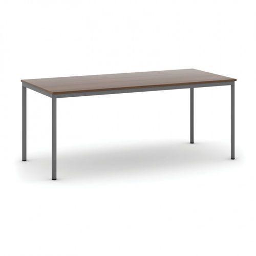 Stół do jadalni 1800 x 800 mm, blat orzech, nogi ciemnoszare