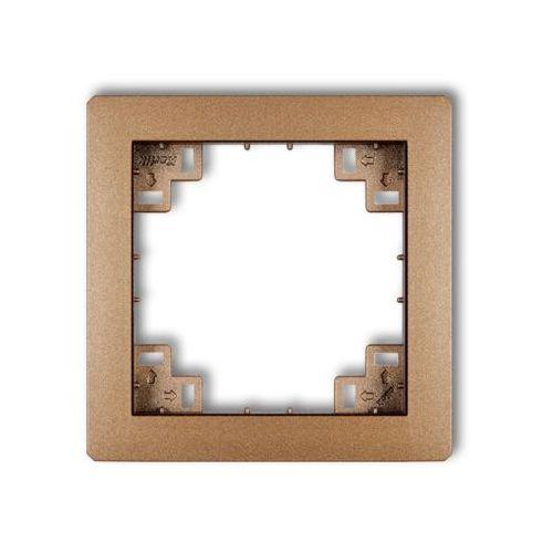 Karlik deco 9drp ramka pośrednia brązowy metalik (5901832001492)
