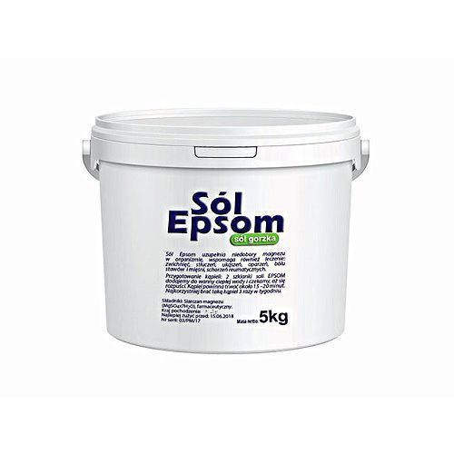 Sól Epsom (siarczan magnezu) wiadro 5 kg Vitafarm, 2004