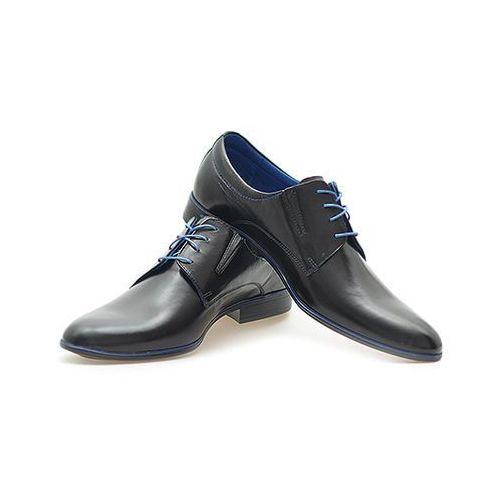 Pantofle Pan 775 Niebieskie/ Czarny, kolor niebieski