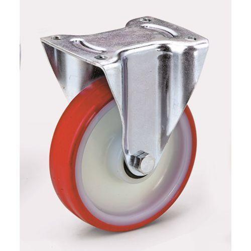 Opona poliuretanowa na feldze poliamidowej, Ø kółka x szer. 80x32 mm, rolka wspo marki Tente