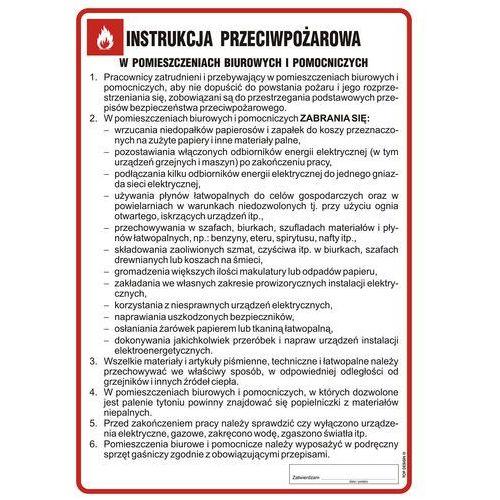 Instrukcja przeciwpożarowa w pomieszczeniach biurowych i pomocniczych marki Top design