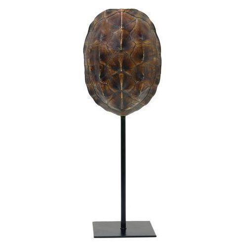 HK Living Brązowa imitacja skorupy żółwia na metalowej podstawie AOA9928 (8718921014243)