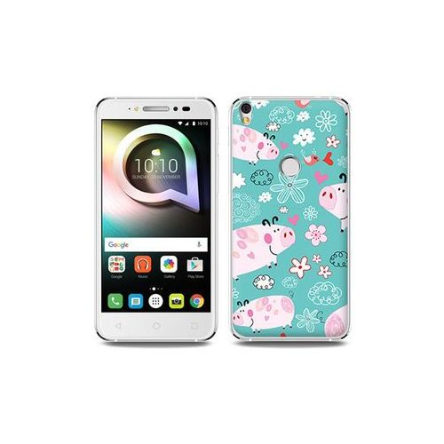 Alcatel Shine Lite - etui na telefon Fantastic Case - różowe świnki, kolor różowy