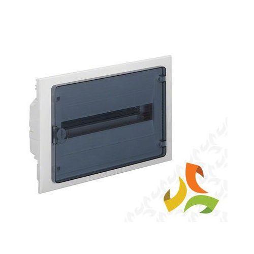 Rozdzielnica,rozdzielnia elektryczna 18 modułów podtynkowa tworzywo, drzwi transparentne HAGER VF118TD, VF118TD/HAG