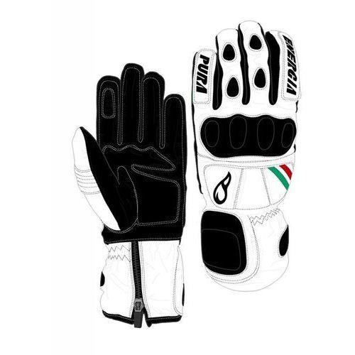 Rękawice narciarskie Slalom Leather Gloves with Protectors W/Prot Biały/Czarny 7